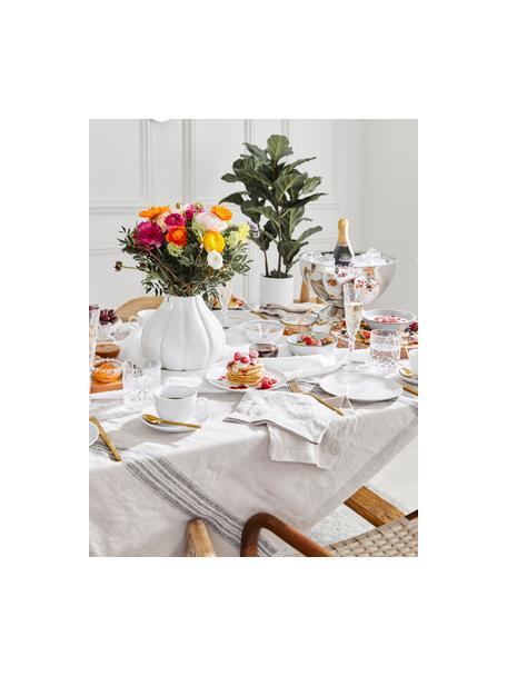 Set van 2 porseleinen ontbijtborden Delight Modern in wit, Porselein, Wit, Ø 20 cm