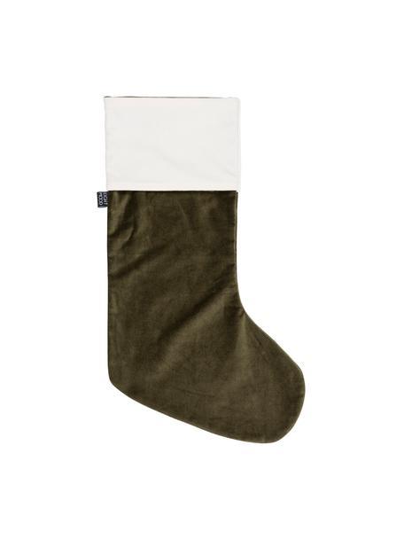 Skarpeta świąteczna  Veronica, Bawełna, Zielony, biały, S 25 x W 45 cm
