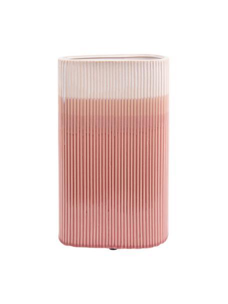 Große Vase Triangle aus Keramik, Keramik, Rosa, 19 x 31 cm