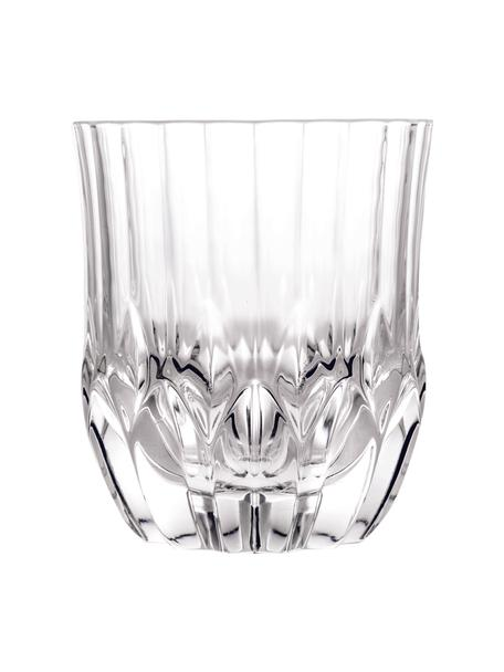 Bicchiere in cristallo con rilievo Adagio 6 pz, Cristallo, Trasparente, Ø 9 x Alt. 10 cm. 350 ml