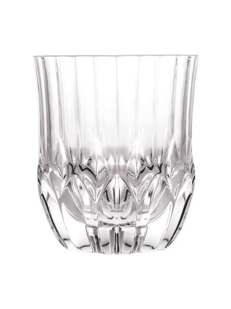 Kristallen glazen Adagio met reliëf, 6 stuks, Kristalglas, Transparant, Ø 9 x H 10 cm. 350 ml