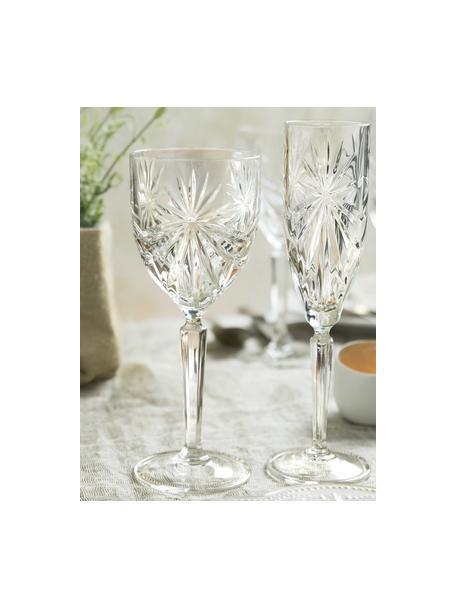 Kieliszek do wina białego z kryształu Oasis, 6 szt., Szkło kryształowe Luxion, Transparentny, Ø 8 x W 20 cm