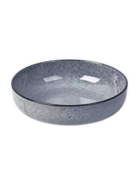 Ręcznie wykonana miska z kamionki Nordic Sea, 4 szt., Kamionka, Odcienie szarego, odcienie niebieskiego, Ø 17 cm