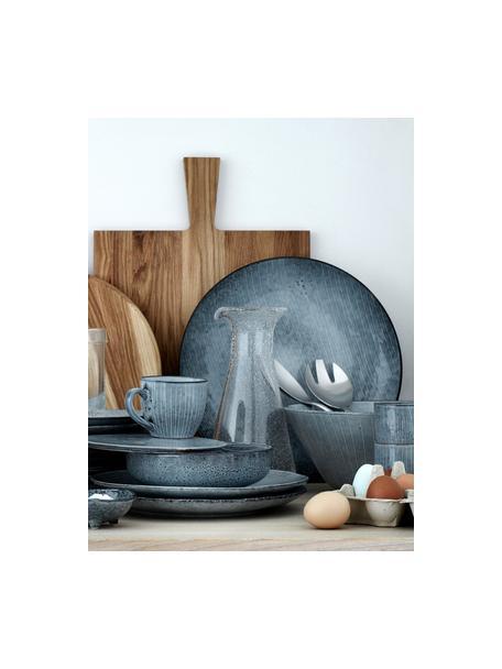 Boles artesanales Nordic Sea, 4uds., Gres, Tonos de gris y azul, Ø 17 cm