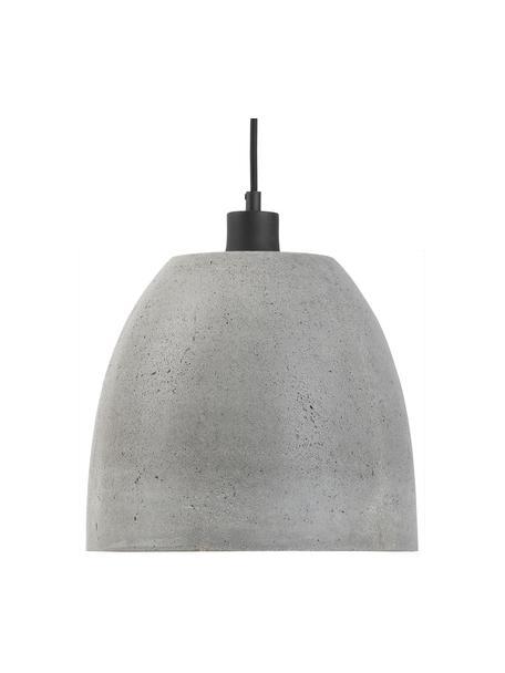 Lámpara de techo pequeña de cemento Malaga, Pantalla: cemento, Cable: cubierto en tela, Gris, Ø 28 x Al 24 cm
