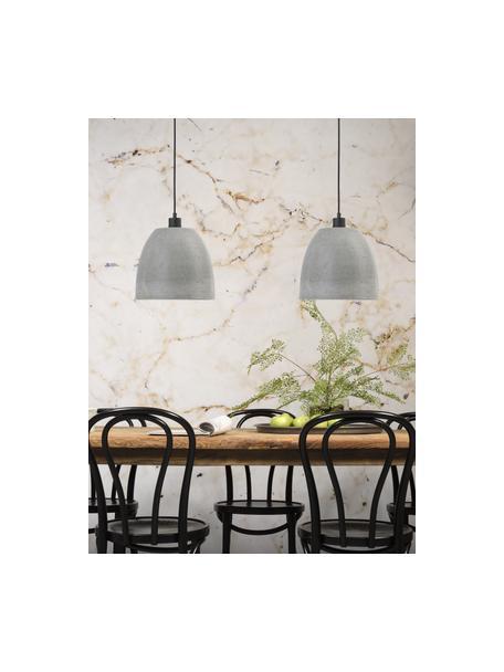 Kleine hanglamp Malaga van beton, Lampenkap: beton, Grijs, Ø 28 x H 24 cm