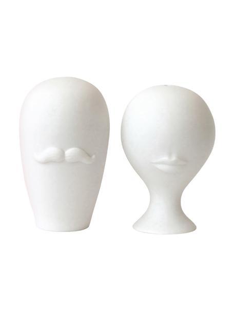 Set de salero y pimentero de diseño Muse, 2pzas., Porcelana, Blanco, Ø 8 x Al 13 cm
