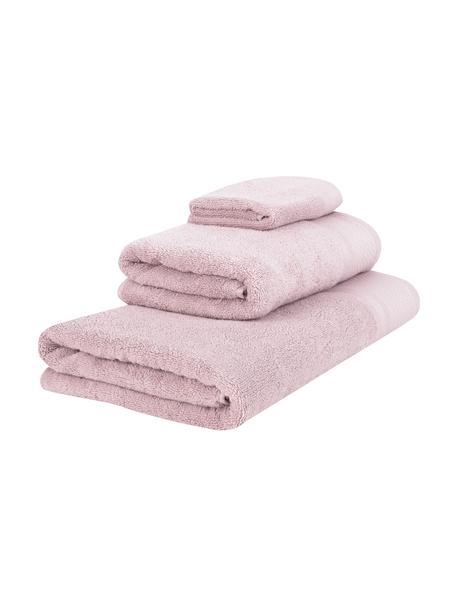 Komplet ręczników Premium, 3 elem., Brudny różowy, Komplet z różnymi rozmiarami