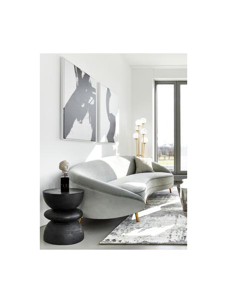 Beistelltisch Benno aus Mangoholz in Schwarz, Massives Mangoholz, lackiert, Schwarz, ∅ 35 x H 50 cm