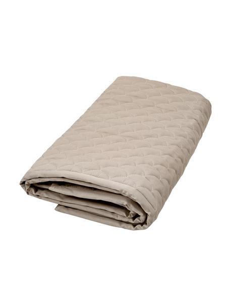Manta Wave, Tapizado: 100%algodón ecológico, c, Beige, An 120 x L 120 cm