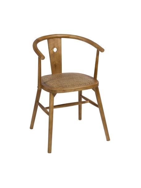 Krzesło z drewna Curve, Drewno naturalne, Brązowy, S 52 x G 41 cm