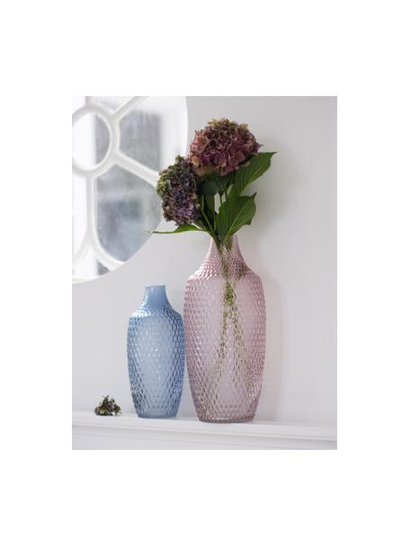 Vaso grande in vetro Poesia, Vetro, Rosa, Ø 17 x Alt. 40 cm