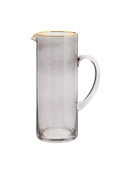 Karaf Chloe 1,6 L, Glas, Grijsblauw, H 25 cm