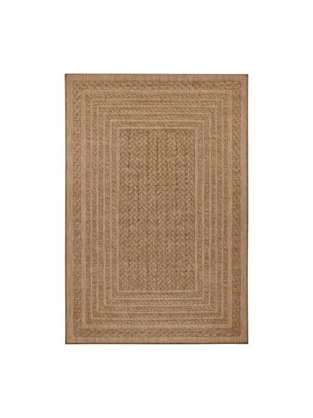 Alfombra de interior/exterior Limonero, 100%polipropileno, Beige, marrón, An 80 x L 150 cm (Tamaño XS)