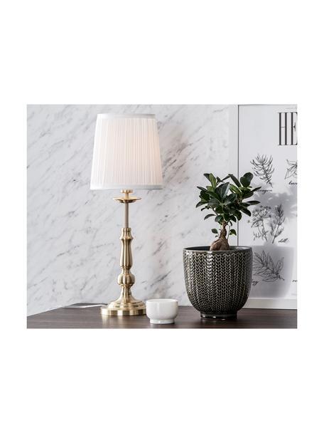 Lámpara de mesa Imperia, Pantalla: poliéster, Cable: plástico, Blanco, latón, Ø 18 x Al 49 cm