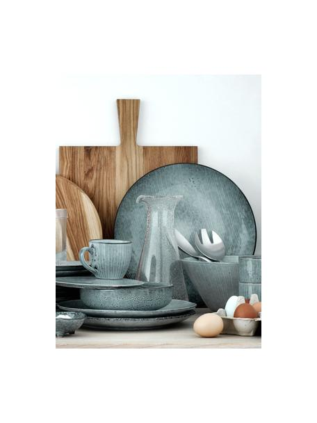 Bajoplatos artesanales Nordic Sea, 4uds., Gres, Tonos de gris y azul, Ø 31 cm