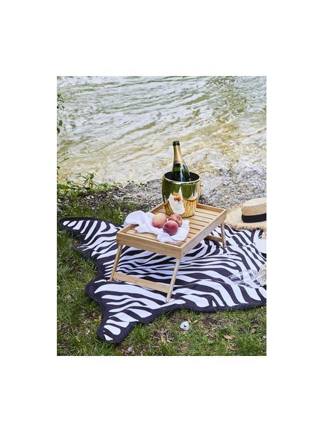Strandlaken Wildhorse met zebra print, 55% polyester, 45% katoen Zeer lichte kwaliteit 340 g/m², Wit met zwarte vlekken, 112 x 150 cm
