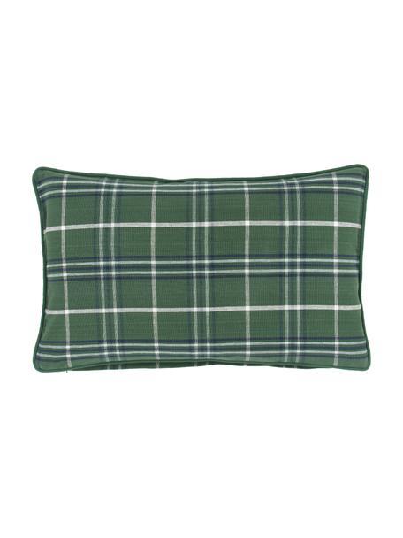 Karierte Kissenhülle Stirling mit Keder, 100% Baumwolle, Mehrfarbig, 30 x 50 cm