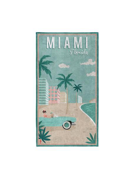 Toalla de playa Miami, Multicolor, An 90 x L 170 cm