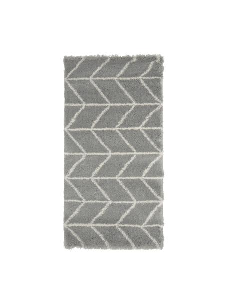Hochflor-Teppich Cera in Grau/Creme, Flor: 100% Polypropylen, Grau, Cremeweiß, B 80 x L 150 cm (Größe XS)