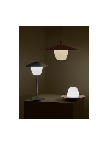 Lampada da esterno portatile e dimmerabile a LED Ani, Paralume: alluminio, Base della lampada: alluminio rivestito, Grigio scuro, Ø 22 x Alt. 33 cm