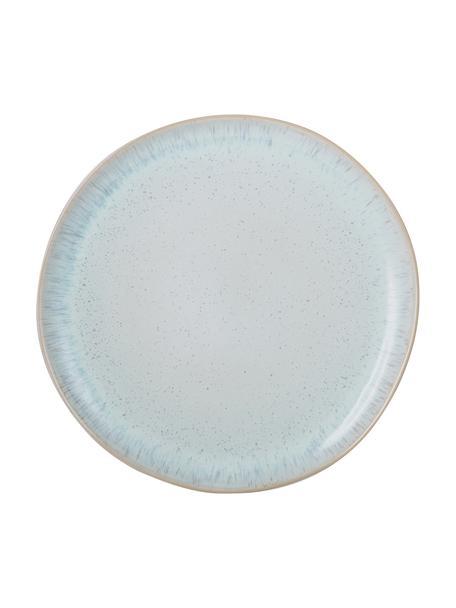 Piatto piano dipinto a mano Areia, Gres, Azzurro, bianco latteo, beige chiaro, Ø 28 cm
