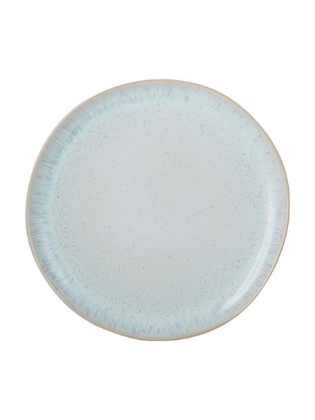 Plato llano artesanal Areia, Gres, Azul claro, blanco crudo, beige claro, Ø 28 cm