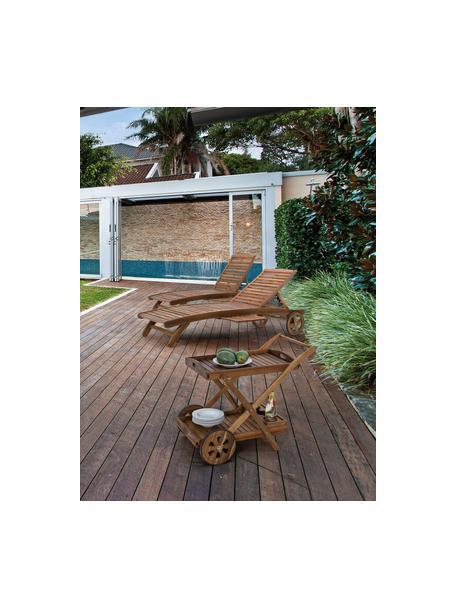 Outdoor barcart Noemi, Acaciahout, licht gelakt en geolied, Bruin, 89 x 76 cm