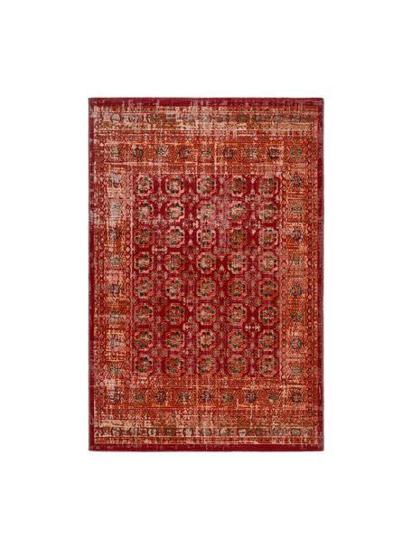 Tappeto orientale da interno-esterno My Tilas, 100% polipropilene, Rosso, arancione, antracite, Larg. 80 x Lung. 150 cm (taglia XS)