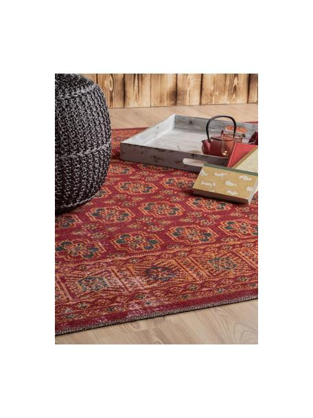 In- & Outdoor-Teppich Tilas in Rot/Orange, Orient Style, 100% Polypropylen, Rot, Orange, Anthrazit, B 80 x L 150 cm (Größe XS)