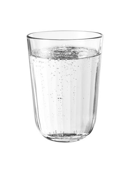 Szklanka termiczna do wody ze szkła hartowanego Facette, 4 szt., Szkło, Transparentny, Ø 9 x W 12 cm