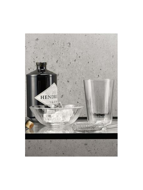 Vasos termo de vidrio templado Facette, 4uds., Vidrio, Transparente, Ø 9 x Al 12 cm