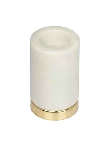 Świecznik na podgrzewacze Porter, Biały, mosiądz, Ø 7 x  W 11 cm