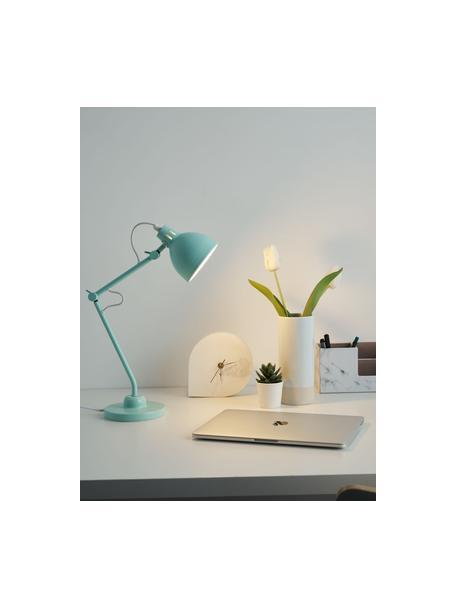 Lampada da scrivania True Buddy, Paralume: metallo rivestito, Base della lampada: metallo rivestito, Decorazione: metallo, Verde pastello, Larg. 14 x Alt. 52 cm