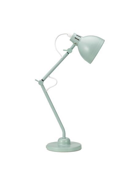 Bureaulamp True Buddy in pastelgroen, Lampenkap: gecoat metaal, Lampvoet: gecoat metaal, Decoratie: metaal, Pastelgroen, 14 x 52 cm