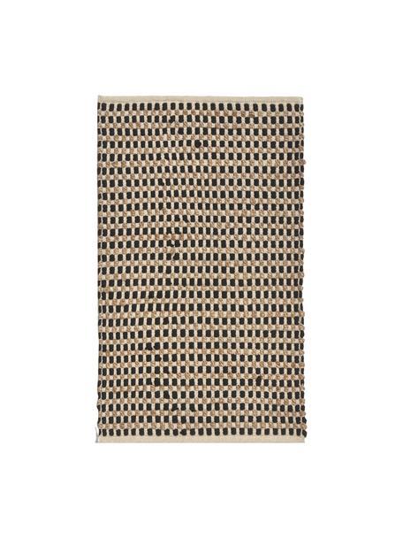 Dywan z bawełny/juty Fiesta, 55% bawełna chindi, 45% juta, Czarny, beżowy, S 60 x D 90 cm (Rozmiar XXS)