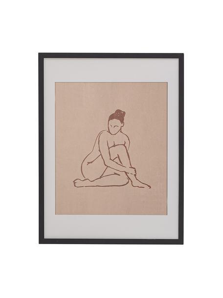 Oprawiony druk cyfrowy Emmalou, Czarny, S 32 x W 42 cm