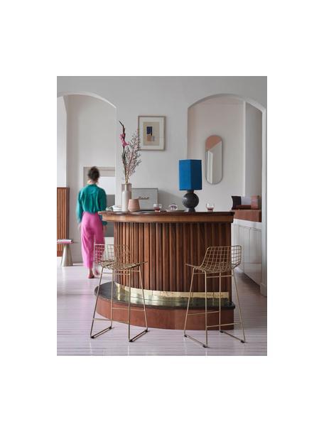 Sedia da bar dorata Wire 2 pz, Metallo verniciato a polvere, Ottone, Larg. 47 x Alt. 89 cm