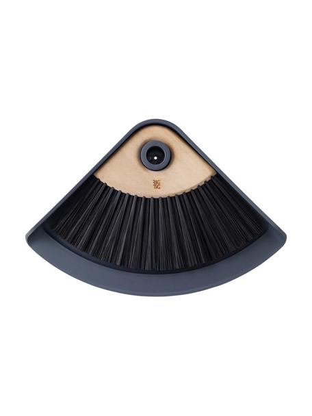 Escoba con recogedor Sweep-It, Plástico, madera de loto, Gris, negro, marrón, An 20 x L 28 cm