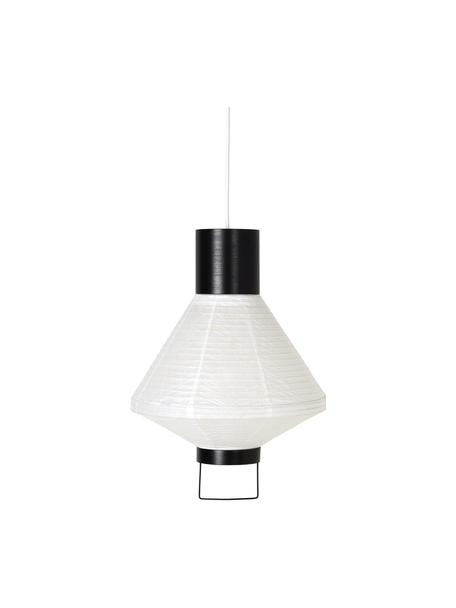 Moderne Pendelleuchte Ritta aus Papier, Lampenschirm: Papier, Weiss, Schwarz, Ø 30 x H 42 cm