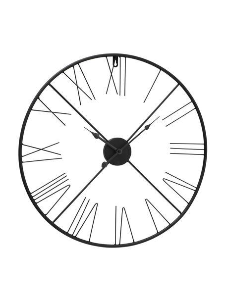 Orologio da parete Oslo, Metallo rivestito, Nero, Ø 57 cm