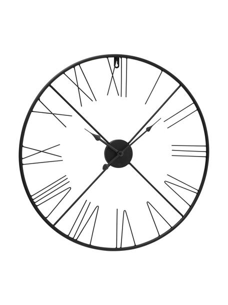 Reloj de pared Oslo, Metal recubierto, Negro, Ø 57 cm