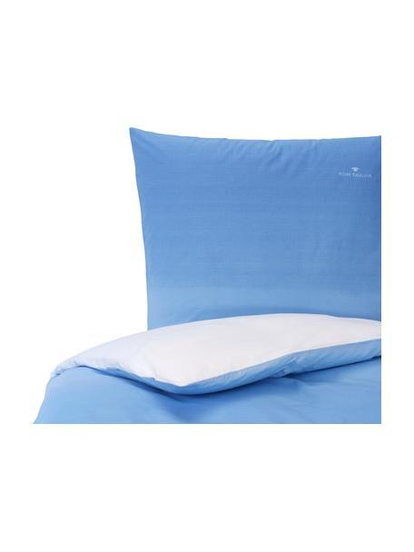 Pościel  z linonu Gradient, Niebieski, 155 x 220 cm + 1 poduszka 80 x 80 cm