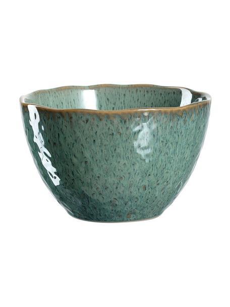 Schälchen Matera in Grün mit Farbverlauf und Unebenheiten, 6 Stück, Keramik, Grün, Ø 15 x H 10 cm