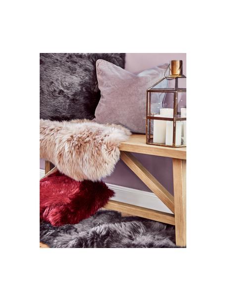 Einfarbige Samt-Kissenhülle Dana in Altrosa, 100% Baumwollsamt, Altrosa, 40 x 40 cm