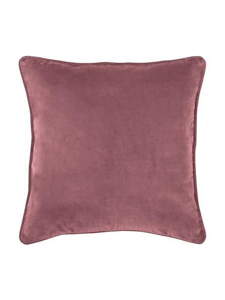 Funda de cojín de terciopelo Dana, 100%terciopelo de algodón, Palo rosa, An 40 x L 40 cm