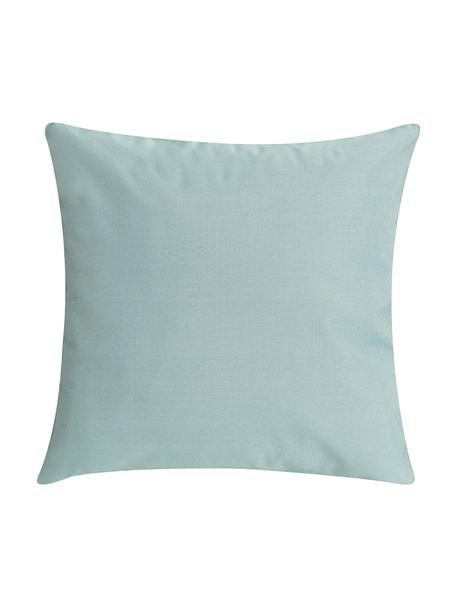 Cuscino da esterno con imbottitura St. Maxime, Rivestimento: poliestere, Verde menta, nero, Larg. 47 x Lung. 47 cm