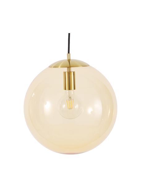 Lampada a sospensione in vetro Bao, Paralume: vetro, Baldacchino: metallo zincato, Oro, Ø 35 cm