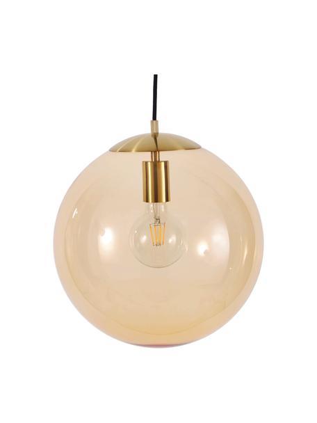 Lámpara de techo Bao, Pantalla: vidrio, Anclaje: metal galvanizado, Cable: cubierto en tela, Dorado, Ø 35 cm