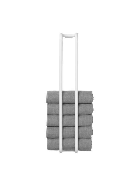 Handdoekenhouder Modo van metaal, Gecoat metaal, Wit, 7 x 42 cm